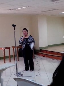 The Executive Director of DOST PCIEERD, Dr. Rowena Cristina L. Guevara, giving her opening remarks.