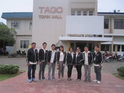At the Tago municipal hall, Surigao del Sur.